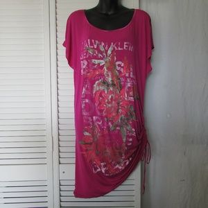 Calvin Klein Jeans fuschia knit dress medium
